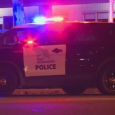 police hit and run scene